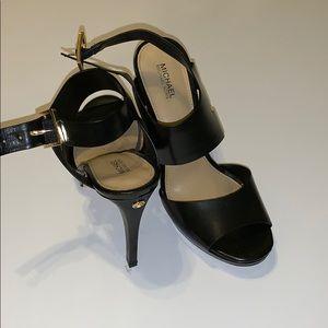 Michael Kors black heels - open toe